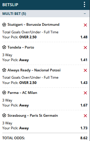 FREE  MULTIBET  OF THE DAY